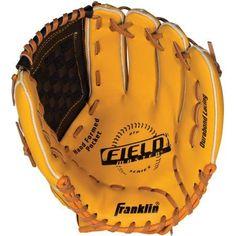 Franklin Sports Field Master Series Baseball Glove, Left Handed Thrower, Multicolor