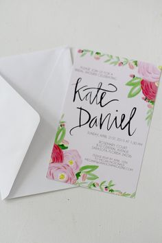 Romantic Florals  Bridal Shower Invitations  by ShannonKirsten, $65.00