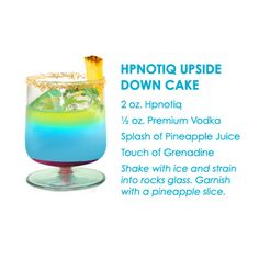Hypnotic Upside Down Cake Drink...YUM!
