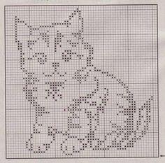 Szydełkowy kot filet