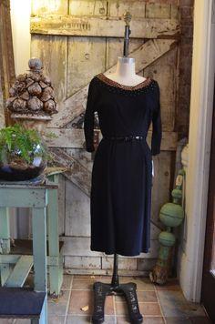 1950s wiggle dress 50s black cocktail dress size by melsvanity