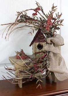 Porch Primitive Crafts | Primitive Country Arrangement! Front Porch Decor!