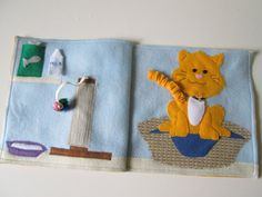 My Pet Cat Quiet Book Page Busy Book by FreckledFelt on Etsy