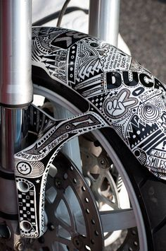 motorcycle sharpie art