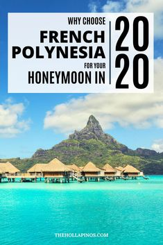 Why you should choose to spend your honeymoon in French Polynesia in 2020 - the best honeymoon ideas to enjoy a vacation in islands like Tahiti, Bora Bora, Moorea, and other French Polynesian islands #traveldream #beautifulvacations #traveltogether Top Places To Travel, Beautiful Places To Travel, Cool Places To Visit, Bora Bora, Tahiti, Cheap Tropical Vacations, French Polynesia Honeymoon, Best Island Vacation, Polynesian Islands