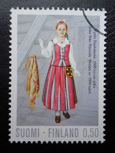 Stamps, covers and postcards of traditional/folk costumes: Stamps / Costumes - Finland / Suomija