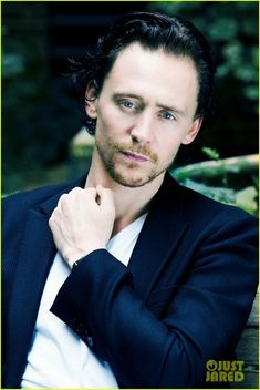 Tom Hiddleston, aka Loki.  Beautiful blue grey eyes.