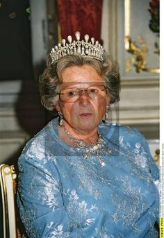 Bavarian Lovers Knot Tiara (worn by Princess Marie-Gabrielle of Waldburg-Zeil) aka Wittelsbach Lovers Knot tiara.
