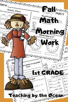First Grade Lessons, First Grade Activities, 1st Grade Math, Grade 1, Math Activities, Second Grade, Thanksgiving Math, Christmas Math, Daily Math
