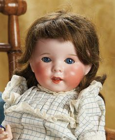 """15"""" (38 cm.) French Bisque Character, 247, by SFBJ with Toddler Body 900/1300"""