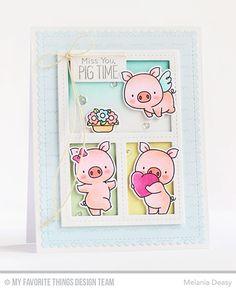 MFT Hog Heaven; pig trio; piggies; DIB; miss you; hello