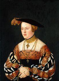 Maria Jakobaea von Baden, by Barthel Beham (German, 1502–1540)