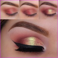 How to do Cranberry spritzer eye makeup tutorial