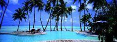 Le Taha'a Island Resort & Spa Bora Bora Resorts, Vacation Resorts, Dream Vacations, Vacation Spots, Above Ground Fiberglass Pools, Bora Bora Island, Four Seasons Bora Bora, Caribbean Resort, Island Resort