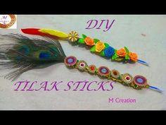 how to make tilak stick/easy handmade tilak stick/feather tilak stick making Indian Wedding Gifts, Desi Wedding Decor, Wedding Art, Craft Stick Crafts, Fun Crafts, Crafts For Kids, Craft Art, Mehndi Art Designs, Mehndi Images
