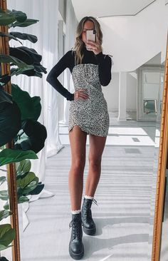 trendyoutfits sleeveless leopard outfits nettie trendy dress Nettie Sleeveless Dress Leopard Trendy outfits You can find Trendy outfits and more on our website Outfits Jeans, Edgy Outfits, Mode Outfits, Dress Outfits, Fashion Outfits, Leopard Outfits, Leopard Dress, Cheetah Print Outfits, Cardigan Outfits
