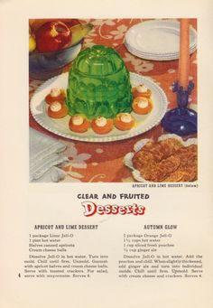 green retro jello