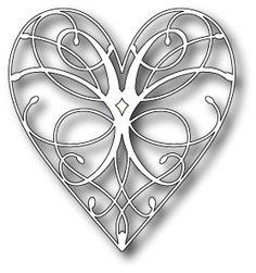Memory Box LA RUE HEART Craft DIE 98255 zoom image