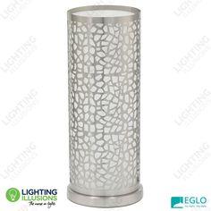 Eglo Almera 1 Laser Cut Metal Design Satin Nickel Table Lamp