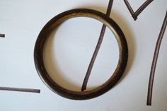 Bangles Brown Bracelets Circle Vintage Jewelry #BBR4 by eventsmatters on Etsy