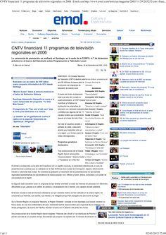 Ganador CORFO_CNTV 2005-2006