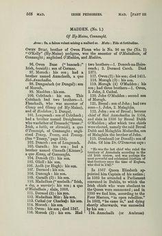 Irish pedigrees; or, The origin and stem of the...