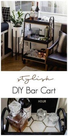 This modern bar cart