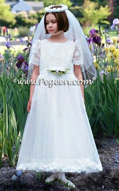 Flower Girl Dress Style 963 by Pegeen... Plus Size Communion Dresses are available in every style.