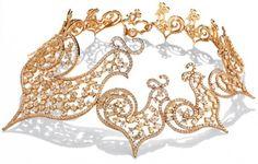 Chantecler, collier oro e diamanti
