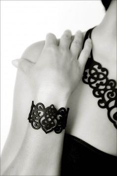 Belle Noir recycled silicon jewelry
