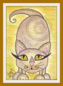 Whimsy Cat 4 - Original ACEO
