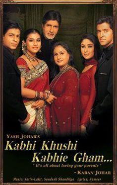 Kabhi Khushi Kabhie Gham (Bollywood DVD with English Subtitles) Best Bollywood Movies, Bollywood Songs, Bollywood Couples, Bollywood Celebrities, Srk Movies, Good Movies, Movies Free, Tamil Movies, Watch Movies
