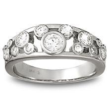 Diamond Icon Mickey Mouse Ring for Women -- 14 Karat White Gold
