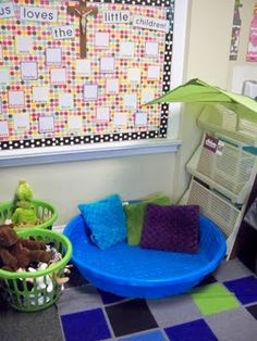 "Palm tree and kiddie pool ""reading lagoon"" for center time. cute for a summer reading area at home too. Classroom Setting, Classroom Design, Future Classroom, Classroom Themes, Classroom Organization, Turtle Classroom, Lucy Calkins, Kindergarten Classroom, Kindergarten Reading Corner"