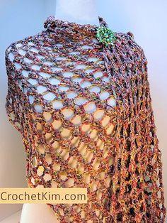 Tandem Fling Wrap By Kim Guzman - Free Crochet Pattern - (ravelry)༺✿ƬⱤღ  http://www.pinterest.com/teretegui/✿༻
