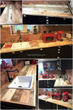 This is one of the best pallet kitchens idea that will beautifully amaze you at the first sight. This alluring pallet craft is all formed with the rustic taste of wasted pallet slats in it. This is not only a functional kitchen plan, but the appealing charm of the pallet wood will bring an inspirational change in your kitchen beauty.