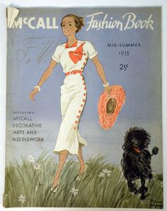 McCall Fashion Book, Mid-Summer 1935 featuring McCall 8306