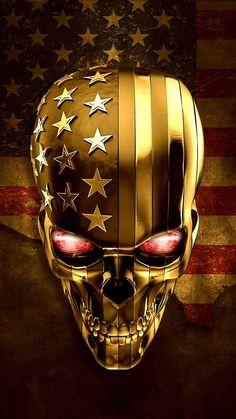 You tread on me.I terminate you! You tread on me.I terminate you! Lion Wallpaper, Skull Wallpaper, Skull Tattoo Design, Skull Tattoos, Dark Fantasy Art, Dark Art, Badass Skulls, Totenkopf Tattoos, Skull Pictures