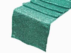 Sequin Turquoise Table Runner Various Sizes by DESIGNERSHINDIGS