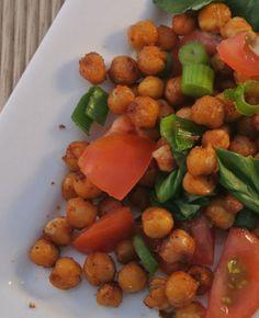 Kikkererwten salade met bosui, tomaat en basilicum | Flairathome.nl