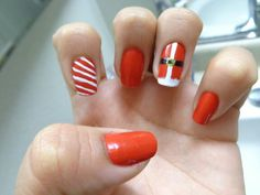 christmas nails #christmasnails #naildesigns #santa #candycanenails #rednails