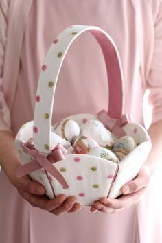 Easter Treasures to Hold - Pastel Pink with basket and Easter eggs Diy Ostern, Ideias Diy, Easter Parade, Easter Colors, Happy Spring, Egg Hunt, Spring Colors, Sewing For Kids, Easter Baskets
