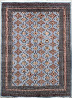 Very fine-quality Caucasian rug with soft lustrous wool pile and beautiful sheen.