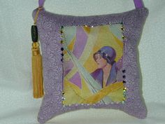 FARONELL DESIGN: HANDMADE Pillow Art titled by DesertMoonQuiltCo