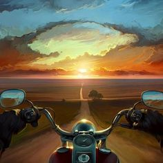ADVERTISEMENTS This is a masterpiece! Look how incredible this artwork shows how an early morning ride with your Harley is. Breathtaking! Click the link to check this artwork out. Early Morning Ride! – Harley-Davidson Road Trip ADVERTISEMENTS