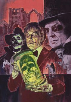 These posters have been commissioned for specific events, which may be festivals, conventions or particular occasions. Sci Fi Horror, Arte Horror, Horror Films, Halloween Drawings, Halloween Art, Happy Halloween, Horror Artwork, Horror Monsters, Vincent Price