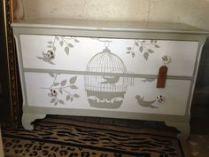 Another small birdcage design chest of drawers soooo pretty By Home Revival