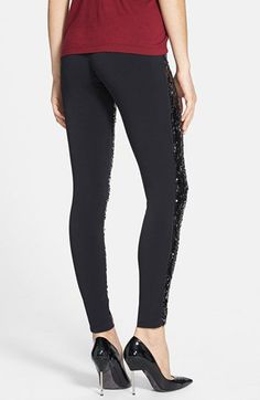 Nordstrom 'Shimmy' Sequin Leggings | Nordstrom Sequin Leggings, My Design, Nordstrom, Sequins, Pants, Clothes, Fashion, Trouser Pants, Outfits