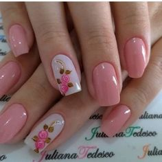 10 Amazing Spring Nail Art Designs That You Should Try Asap Elegant Nail Designs, Short Nail Designs, Elegant Nails, Stylish Nails, Trendy Nails, Nail Art Designs, Spring Nail Art, Spring Nails, Summer Nails