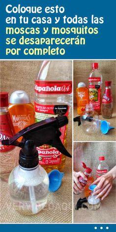 Coloque esto en tu casa y todas las moscas y mosquitos se desaparecerán por completo Mosquito Repellent Essential Oils, Handyman Projects, Natural Toner, Bathroom Cleaning Hacks, Small Garden Design, House Smells, Clean House, Homemade, Ideas Para